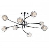Seattle 8 Light Semi Flush - Polished Chrome