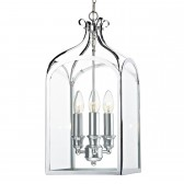 Senator Pendant Light - 3 Light, Polished Chrome