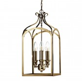 Senator 3 Light Pendant Antique Brass