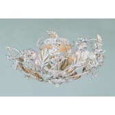 Impex Florence Ceiling Light Antique White - 3 Light