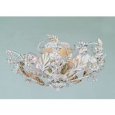 Impex Florence Flush Light Antique White - 6 Light