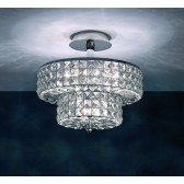 Impex Dijon Ceiling Light Chrome - 5 Light