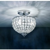 Impex Metz Chandelier Chrome - 3 Light