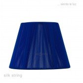 30cm Silk String Shade Midnight Blue