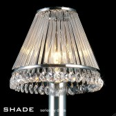 Diyas Shade Crystal And Glass Chrome