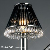 Diyas Shade Crystal Glass Black Chrome