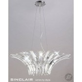 Diyas Sinclair Pendant 9 Light Polished Chrome