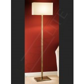 Franklite Floor Lamp - Bronze, Shown with Cream Shade