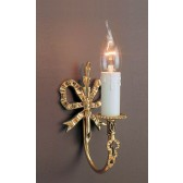 Impex Richmond Wall Light - 1 Light, Brass Plate & Gold Plate