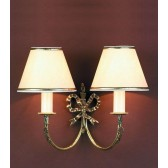 Impex Richmond Wall Light - 2 Light, Polished Brass
