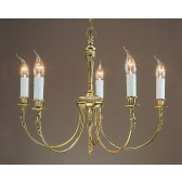 Impex Richmond Chandelier - 5 Light, Brass Plate & Gold Plate