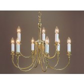 Impex Richmond Chandelier - 9 Light, Brass Plate & Gold Plate