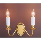 Impex Georgian Wall Light - 2 Light, Brass Plate & Gold Plate