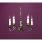 Impex Georgian Chandelier Light Bronze - 5 Light