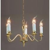 Impex Georgian Chandelier Polished Brass - 5 Light