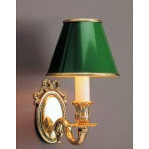 Impex Sandringham Wall Light - 1 Light, Brass Plate & Gold Plate