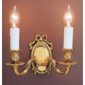Impex Sandringham Wall Light Polished Brass - 2 Light