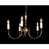 Impex Solar Chandelier - 5 Light, Antique Brass