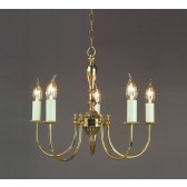 Impex Solar Chandelier Polished Brass - 5 Light