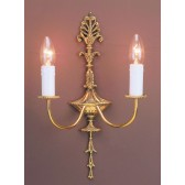 Impex Eden Wall Light Polished Brass - 2 Light