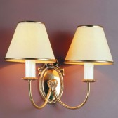 Impex Eden Wall Light - 2 Light, Brass Plate & Gold Plate