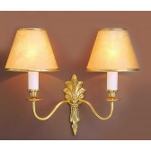 Impex Goodwood Wall Light - 2 Light, Brass Plate & Gold Plate