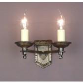 Impex Tudor Wall Light Bronze - 2 Light