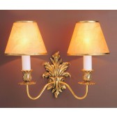 Impex Dauphine Wall Light - 2 Light, Brass & Gold Plate