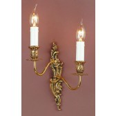 Impex Dauphine Wall Light - 2 Light, Brass Plate & Gold Plate