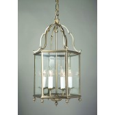 Impex Belgravia Lantern Antique Brass - 6 Light