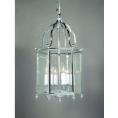 Impex Belgravia Lantern Chrome - 6 Light