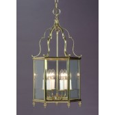 Impex Belgravia Lantern - 6 Light, Brass Plate & Gold Plate