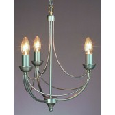 Impex Cirrus Chandelier - 3 Light, Satin Chrome & Nickel