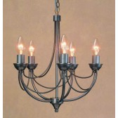 Impex Cirrus Chandelier - 5 Light, Satin Chrome & Nickel