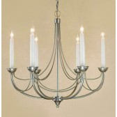 Impex Cirrus Chandelier Natural - 6 Light