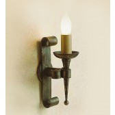 Impex Refectory Wall Light Black Gold - 1 Light