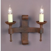 Impex Refectory Wall Light - 2 Light, Brown
