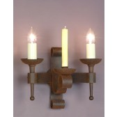 Impex Refectory Wall Light - 2 Light, Aged Brown