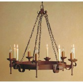 Impex Refectory Chandelier - 5 Light, Brown