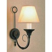 Impex Classica Wall Light Matt Black - 1 Light