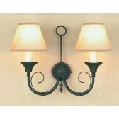 Impex Classica Wall Light Black Gold - 2 Light