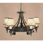 Impex Cromwell Chandelier Black Gold - 5 Light