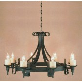 Impex Cromwell Chandelier Matt Black - 8 Light
