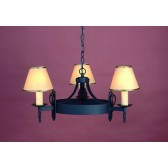 Impex Mitre Chandelier Matt Black - 3 Light