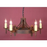Impex Mitre Chandelier Aged - 5 Light