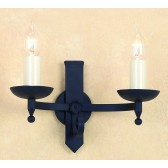 Impex Forge Wall Light Matt Black - 2 Light