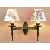 Impex Wentworth Wall Light Gun Metal - 2 Light