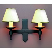 Impex Saxon Wall Light Matt Black - 2 Light