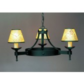 Impex Saxon Chandelier Matt Black - 3 Light