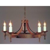 Impex Saxon Chandelier Aged - 5 Light